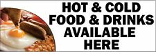 HOT AND COLD FOOD PVC OUTDOOR BANNER 2FT X 6FT