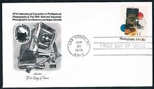 1978 Photography 15c First Day Cover FDC Artmaster Cach