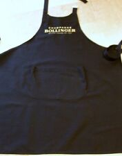 BOLLINGER CHAMPAGNE BLACK TWILL APRON GOLD  EMBROIDERY NEW IN SEALED POLYBAG