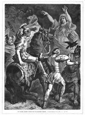 Germánica seherin advierte el campo de Roma al Sr. druso, madera picadura de aprox. 1880