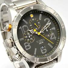 NEW NIXON 48-20 CHRONO BLACK WATCH A486-000 FREE SHIPPING AUTHENTIC A486000