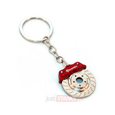 Brembo Brake Disc Caliper Keychain Keyring Red Porsche BMW VW Audi