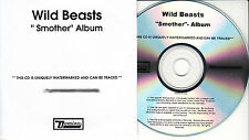 WILD BEASTS Smother UK 10-trk numbered/watermarked promo test CD
