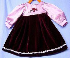Schildkröt Puppenkleidung für Künstlerpuppen,bordeaux Samtkleid für 64 cm Puppen
