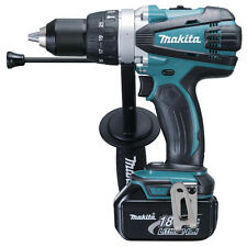 MAKITA BHP458RFE 18v LITHIUM ION CORDLESS COMBI HAMMER (2 BL1830 -CHARGER-CASE)