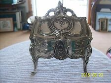 French Louis XV Style Silver Plated Antique Miniature Bureau Secretary