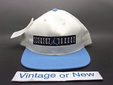 VTG NWT 2001 Nike Air Jordan XI 11 Columbia Legend Blue Snapback Hat Cap
