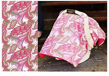 CARSEAT CANOPY SPRINKLED Infant Car Seat Cover Cool Cotton + Soft Warm Minky NEW