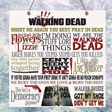 The walking dead tv show guillemets anniversaire cadeau plaque signe murale maison