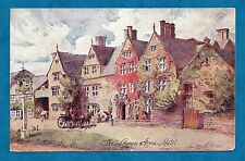 1914 PC THE LYGON ARMS HOTEL, BROADWAY, WORCS - ARTIST DRAWN GEORGE CARLINE