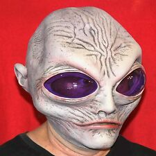Grey Alien Mask Halloween Costume Haunted House Adult Latex Gray Space Fantasy