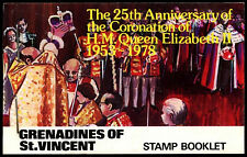 Gren St. Vincent 1978 SG#SB2 Coronation 25th Anniv Stamp Booklet FDI MNH #C37489