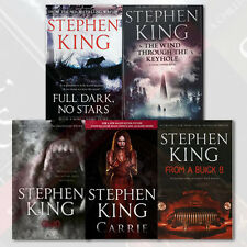 Stephen King 5 Books Collection Set, Carrie, Cujo, From a Buick 8, Brand New PB