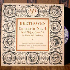 """Walter Goeher Mewton Wood 10"""" LP MMS Beethoven Concerto No. 4 deep groove VG+"""