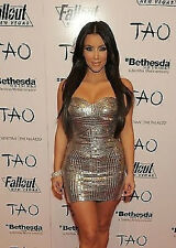 *JOHN RICHMOND* Silver Sequined Bustier Dress seen on Kim Kardashian! NWT IT 42