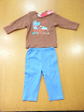 Zutano T-Shirt and Pants Set 6 Month Blue/Brown NWT R$39.99