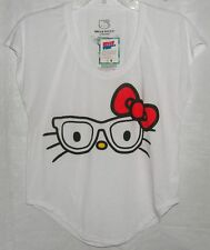 Hello Kitty Tee NERD HOT TOPIC NICE CHRISTMAS GIFT FREE USA SHIPPING SMALL NWT