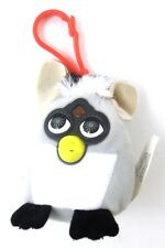 Furby Plush Backpack Purse Bag Clip Keychain 2000 McDonald's Gray White Black