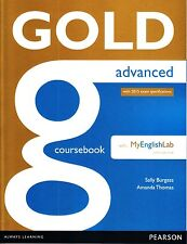 Pearson GOLD ADVANCED CAE COURSEBOOK with MyEnglishLab Online for 2015 Exams NEW