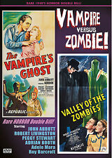 VAMPIRE'S GHOST & VALLEY OF THE ZOMBIES- RARE 1940's HORROR FILMS! REPUBLIC DVD