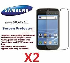 New Samsung Galaxy S2 II i9200 LCD Screen Protector Crystal Ultra Clear Film X 2
