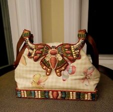 Rare MARY FRANCES Beaded butterfly shoulder handbag