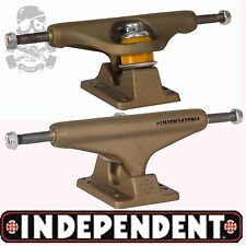 "INDEPENDENT Stage 10 Skateboard Trucks 129s. 7.6"" Wide - Aged Gold  Metal Series"