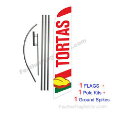 Tortas 15' Feather Banner Swooper Flag Kit with pole+spike