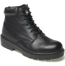 MENS DICKIES ANTRIM SAFETY WORK BOOTS BLACK SIZE UK 8 EU 42 FA23333