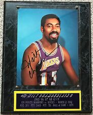 Authentic Wilt Chamberlain autograph signed 8x10 photo auto with COA