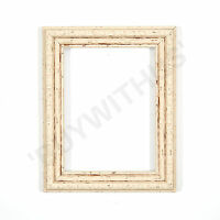 Ornate Shabby Chic Picture frame photo frame poster frame  White Distressed