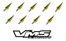 VMS RACING GOLD SPIKE HEADER CUP BOLT WASHER KIT FOR HONDA ACURA BOLTS B18 B16