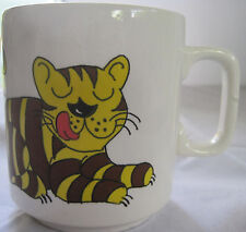 VINTAGE CORONA TIGER CAT COFFEE MUG / CUP