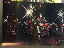 Kiss Motorcycle full size poster Gene Simmons Peter Criss Ace Frehley