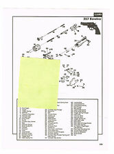 LLAMA 357 REVOLVER WITH  EXPLODED VIEW, PARTS  LIST AD 1992