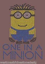 One in a Minion Boy Rhinestone Iron on Transfer     WJ9N
