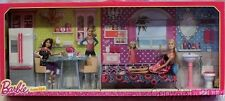 2014 Barbie Dreamhouse Furniture Giftset Bedroom Kitchen Bathroom w/Doll NEW