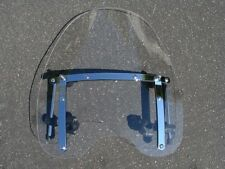 "Large 19""x17"" Clear Windshield For Yamaha Cruiser Motorcycle 7/8 & 1"" Handlebars"