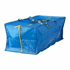 IKEA FRAKTA Large Blue Zipped Storage Bags Reusable Trunk Laundry 76L- 91.48