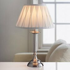 Large Table Lamp Office Desk Oxford Luxury Light Lamp - Ivory/Brushed Silver