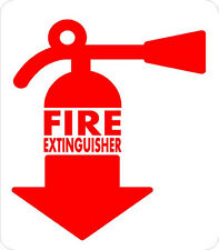 #M154 (1) Fire Extinguisher Inside DOT sticker Truck Bus Car Label Decal Sticker