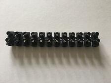 1 Barrette de 12 Domino pour Racordement Electrique Noir 16mm2  NEUF