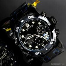 Invicta 48mm Pro Diver Scuba Black Steel Chronograph Swiss Parts Watch New