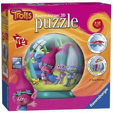 Trolls '72 Piece 3d' Ball Jigsaw Puzzle Game Brand New Gift