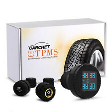 LCD TPMS Tire Pressure Monitoring System Cigarette Lighter + 4x External Sensors