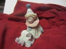 Lladro Figurine PIERROT WITH PUPPY DOG CLOWN #5277 Retir