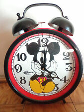 Walt Disney Mickey Mouse giant red wall floor desk clock sold out