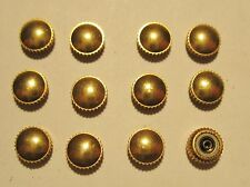 Lot of 12 Vintage NOS Gents Gold Filled O-ring Waterproof Watch Crowns 6mm Tap 8