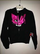 Emily The Strange Sexy Kitty Juniors' Black Zip Front Hoodie Brand New Size Med