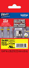 """Brother TZeS631 1/2"""" Black on Yellow Extra Strength Tape for PT1290, PT-1290"""